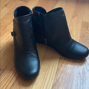 Blowfish wedge booties size 8